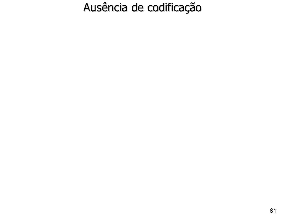 Ausência de codificação