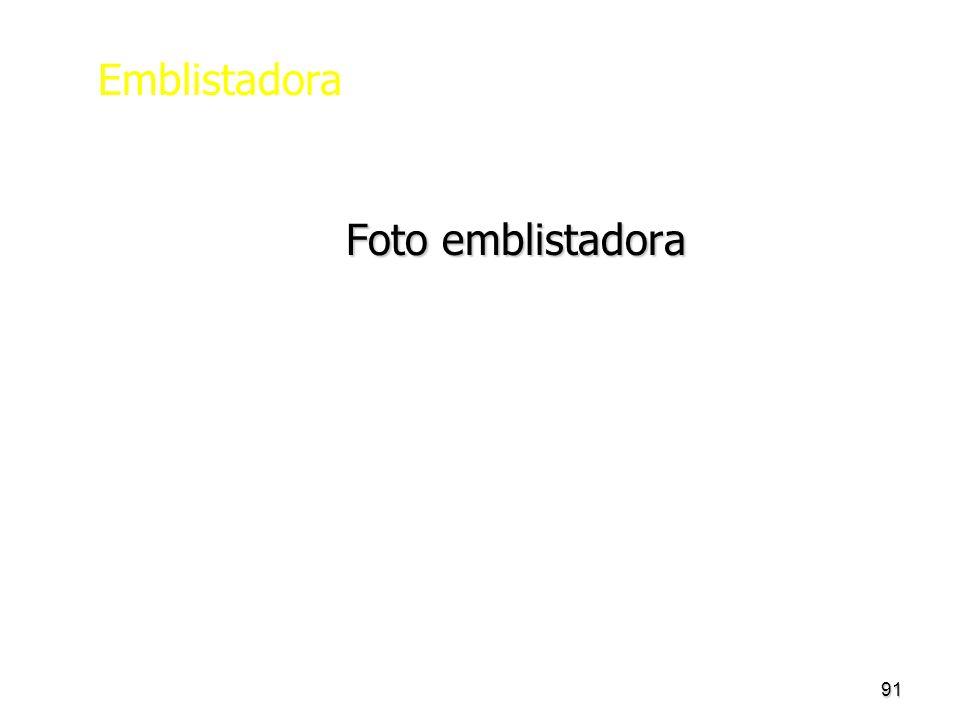 Emblistadora Foto emblistadora
