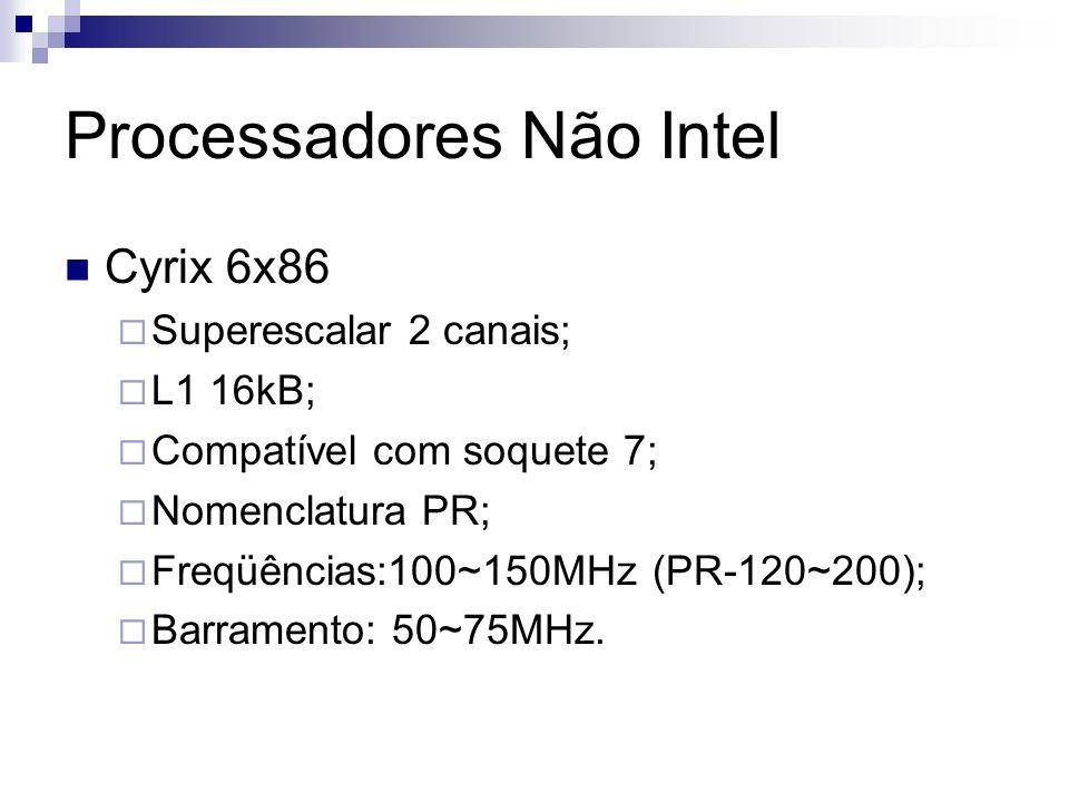 Processadores Não Intel