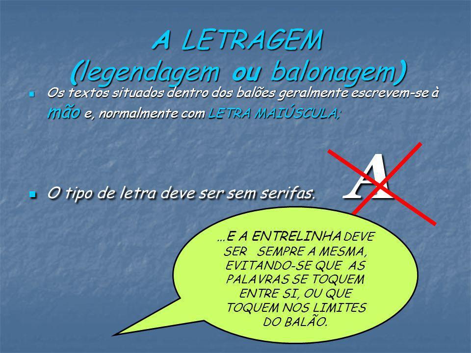 A LETRAGEM (legendagem ou balonagem)