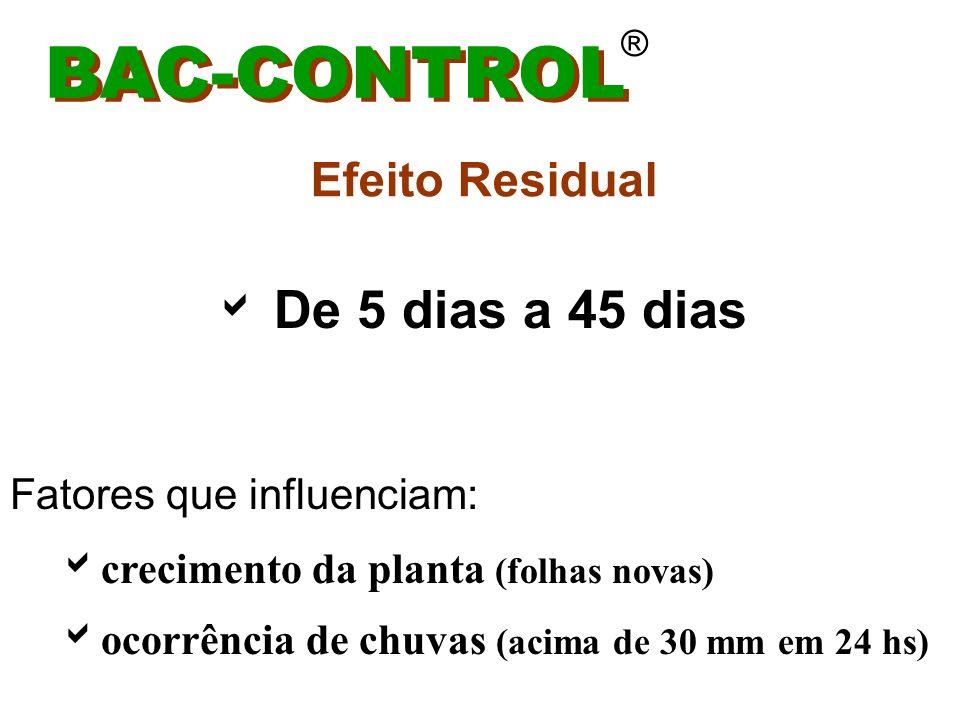 BAC-CONTROL Efeito Residual De 5 dias a 45 dias