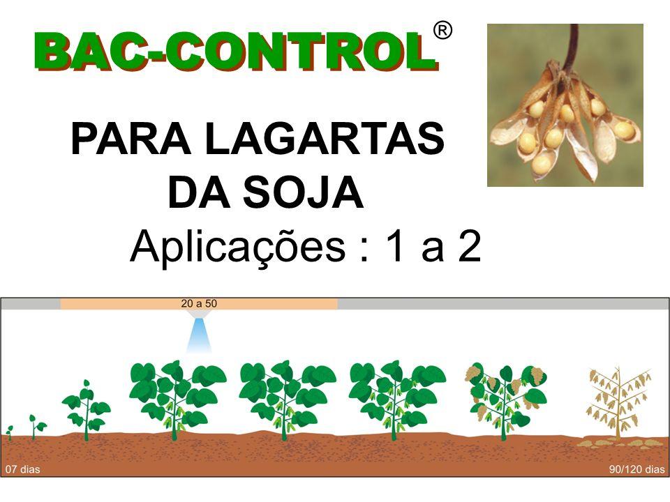 ® BAC-CONTROL PARA LAGARTAS DA SOJA Aplicações : 1 a 2