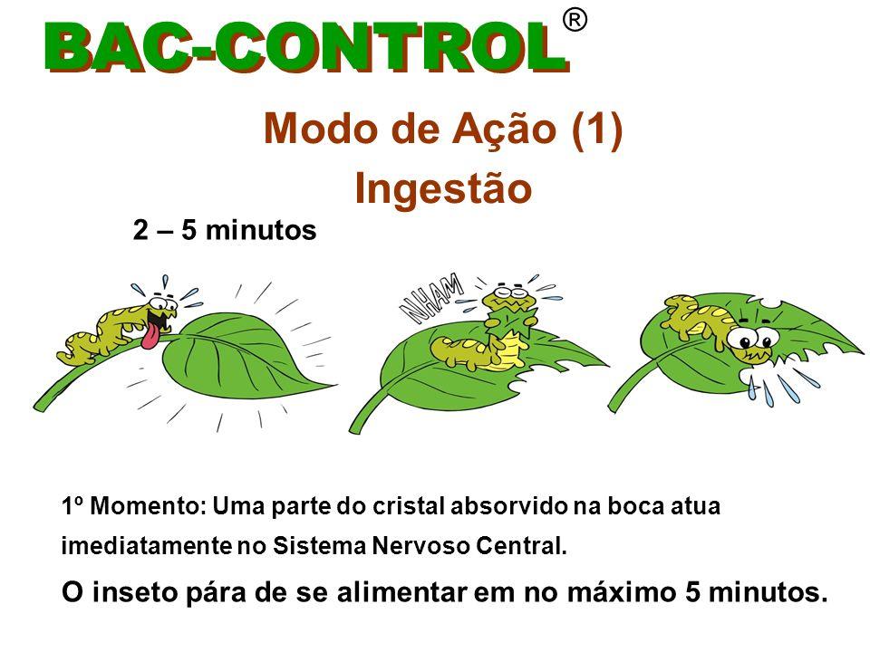 BAC-CONTROL Modo de Ação (1) Ingestão ® 2 – 5 minutos