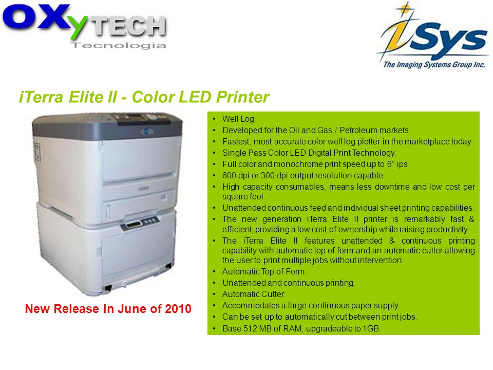 iTerra Elite II - Color LED Printer
