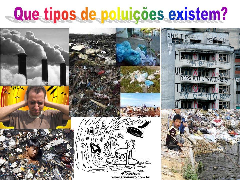 Que tipos de poluições existem