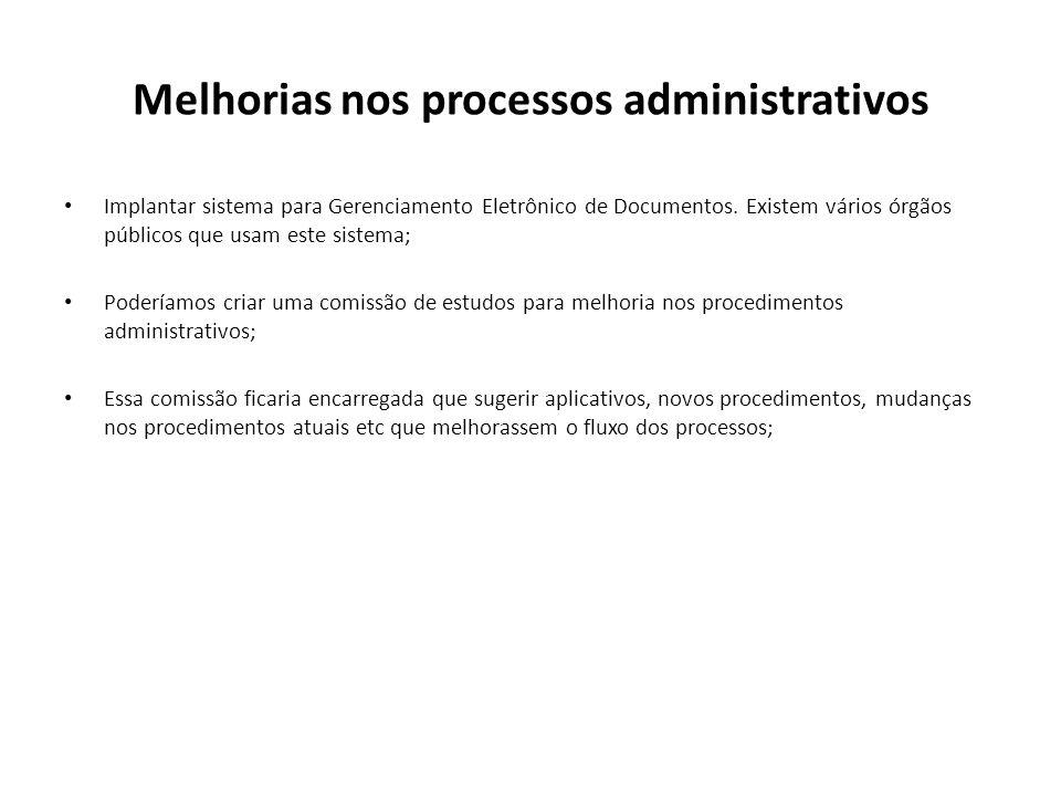 Melhorias nos processos administrativos