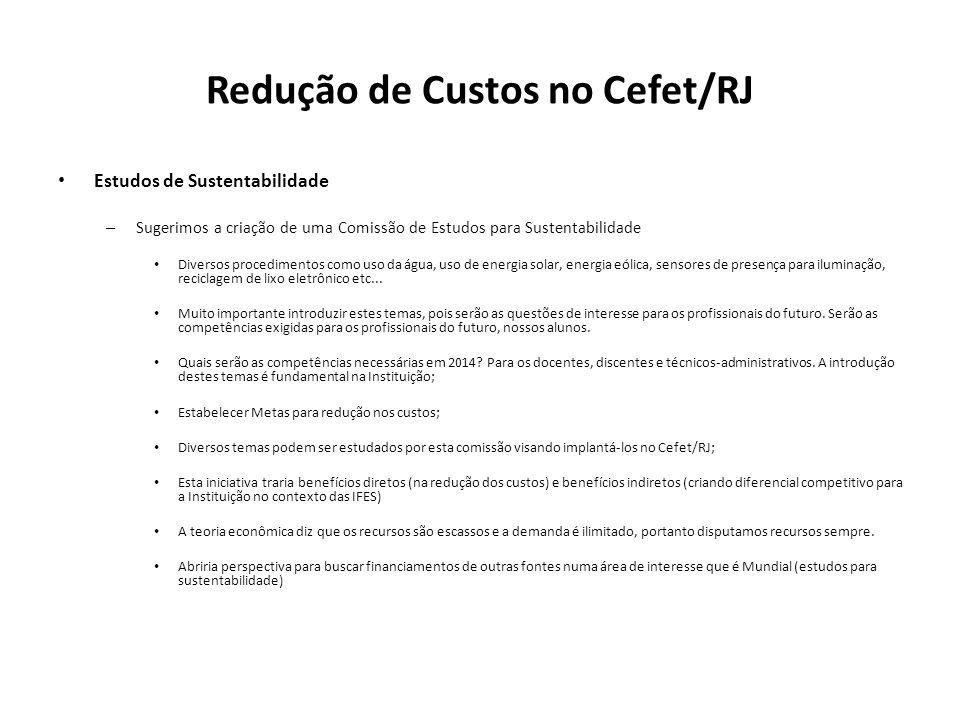 Redução de Custos no Cefet/RJ