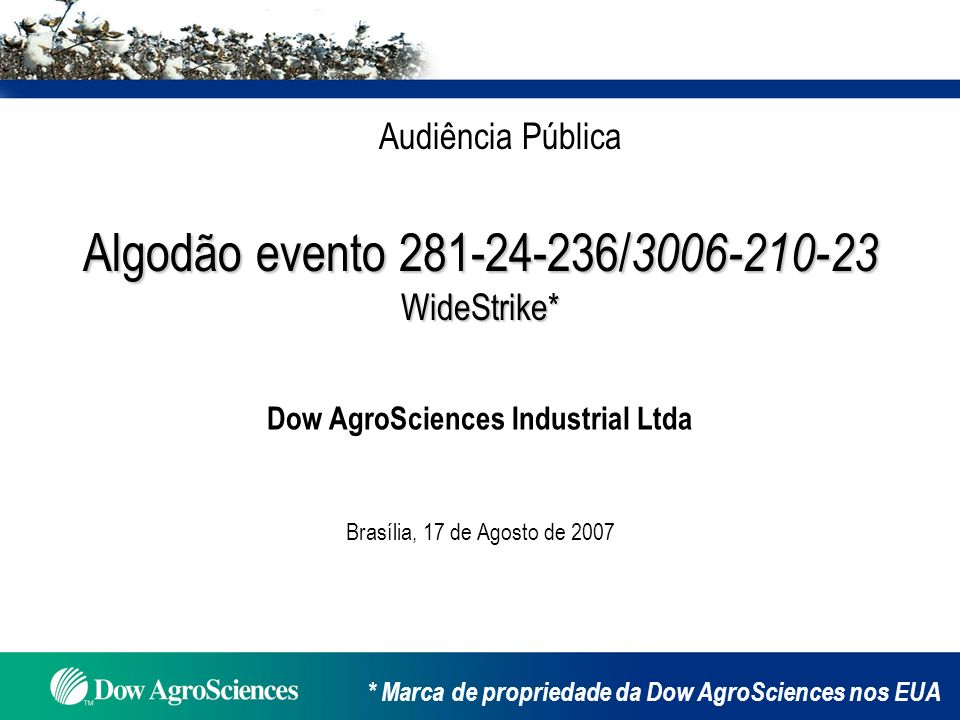 Dow AgroSciences Industrial Ltda