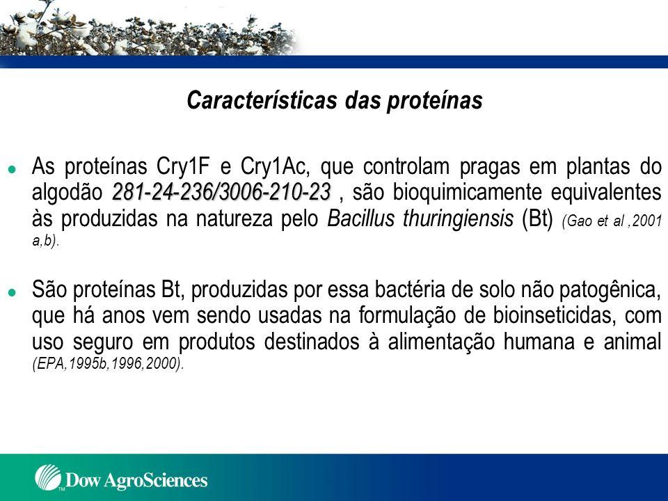 Características das proteínas