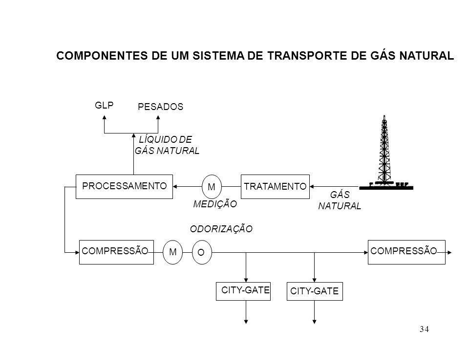 COMPONENTES DE UM SISTEMA DE TRANSPORTE DE GÁS NATURAL
