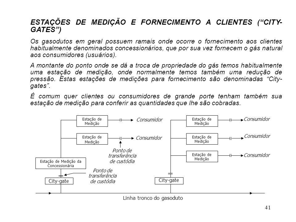 ESTAÇÕES DE MEDIÇÃO E FORNECIMENTO A CLIENTES ( CITY-GATES )