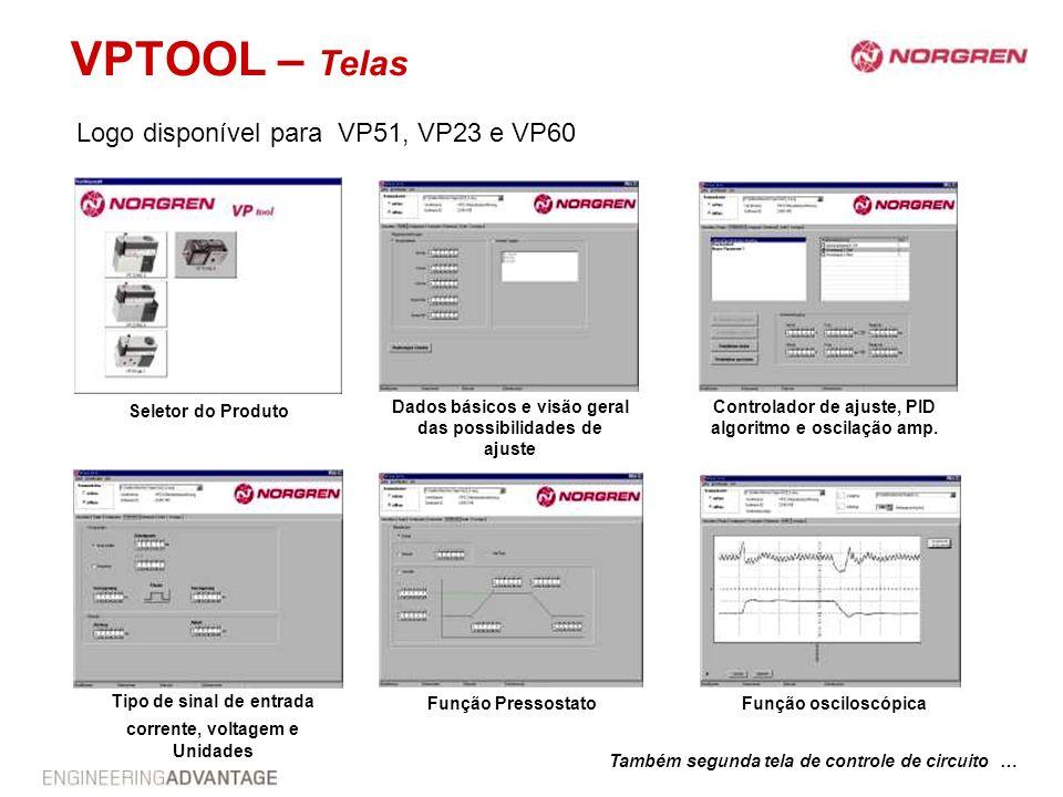 VPTOOL – Telas Logo disponível para VP51, VP23 e VP60