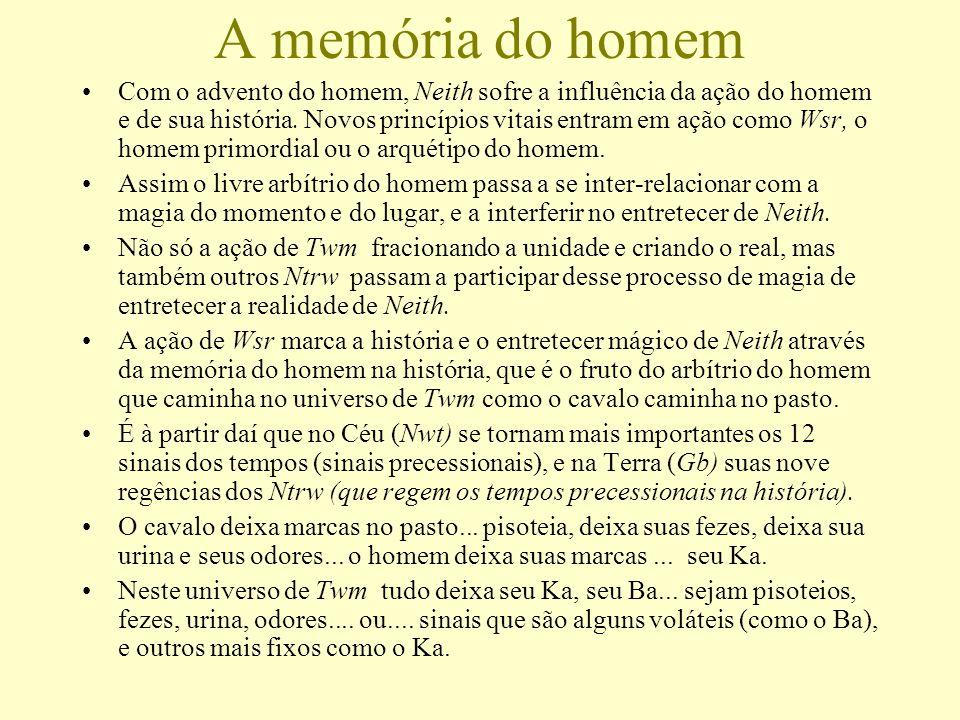A memória do homem