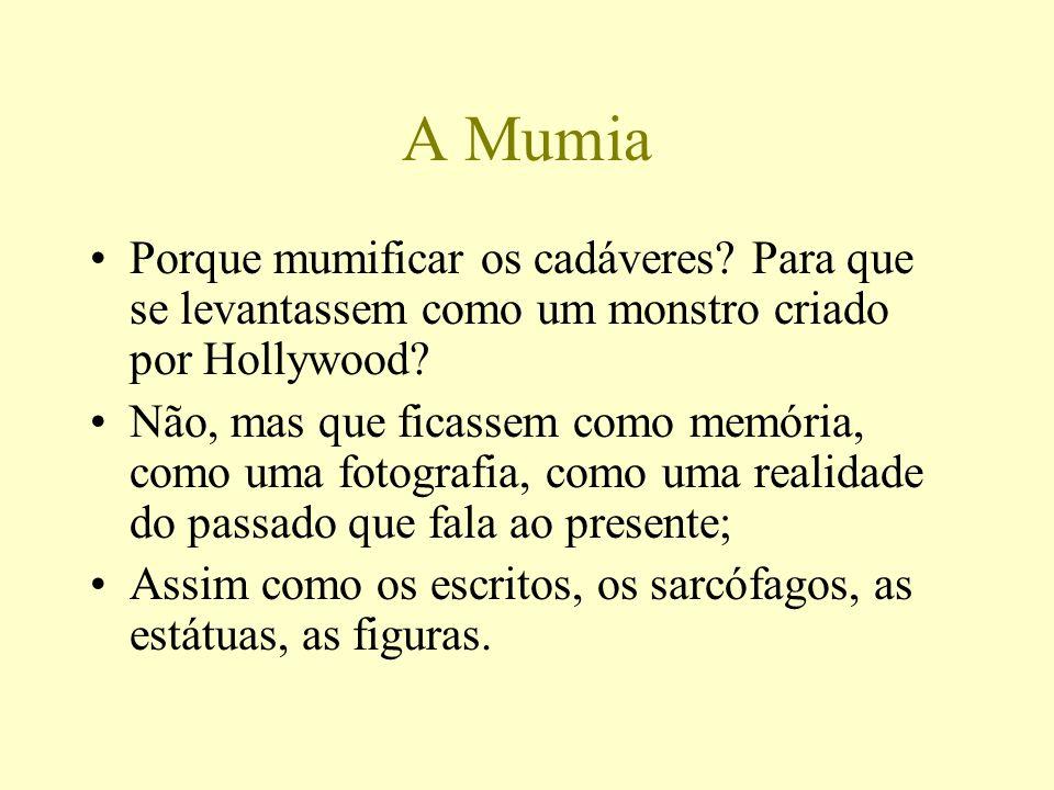 A Mumia Porque mumificar os cadáveres Para que se levantassem como um monstro criado por Hollywood