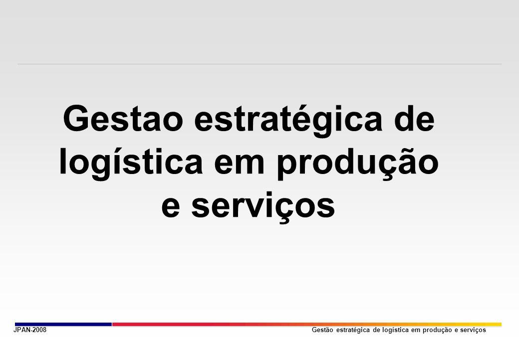 Gestao estratégica de logística em produção e serviços