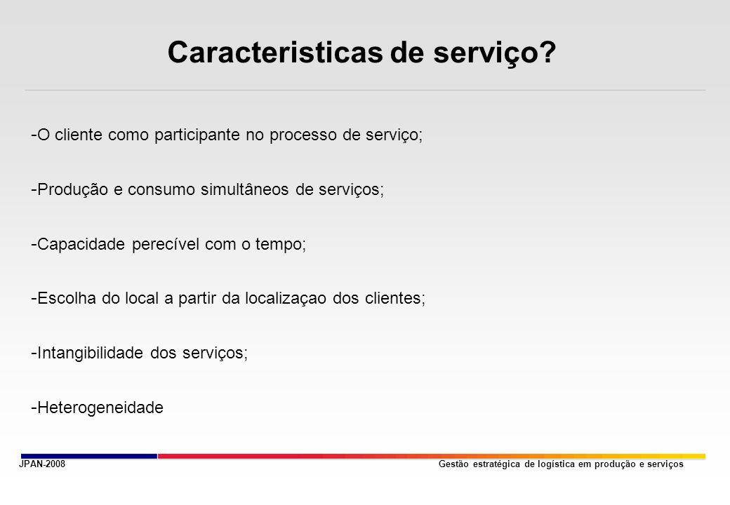 Caracteristicas de serviço