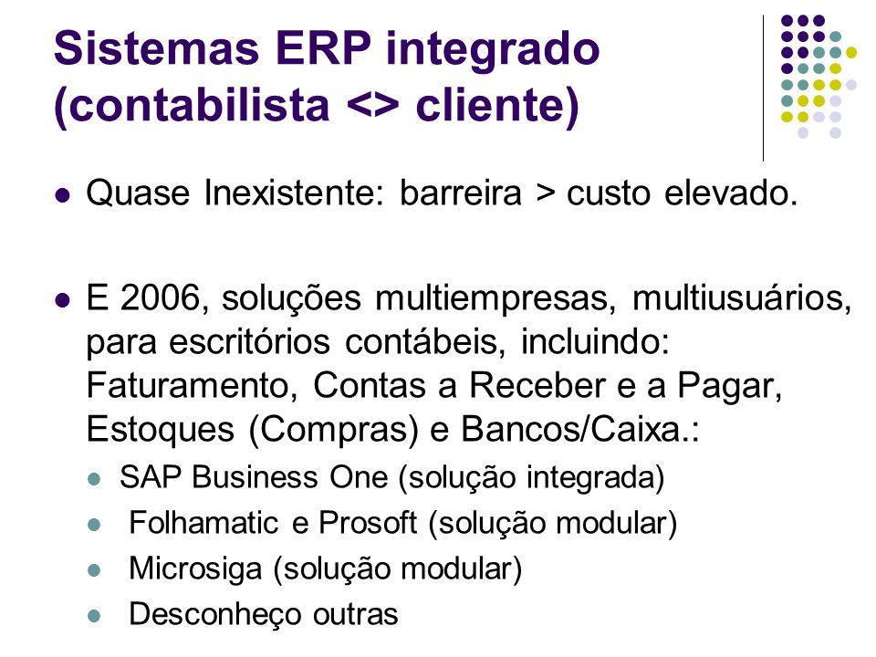 Sistemas ERP integrado (contabilista <> cliente)