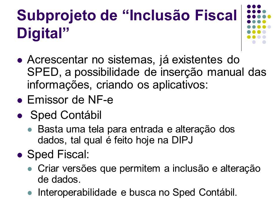 Subprojeto de Inclusão Fiscal Digital