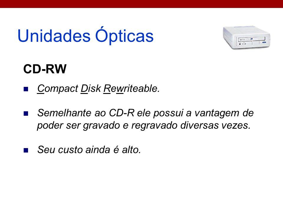 Unidades Ópticas CD-RW Compact Disk Rewriteable.