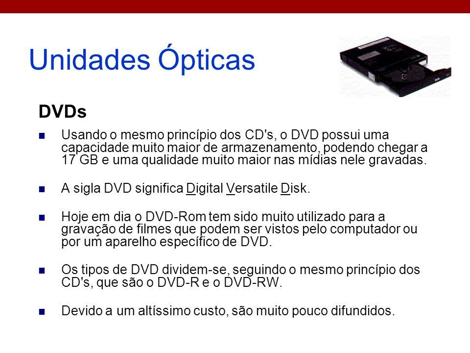 Unidades Ópticas DVDs.