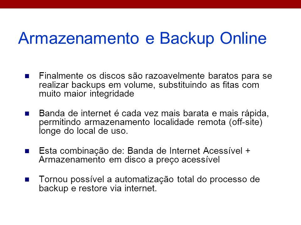 Armazenamento e Backup Online
