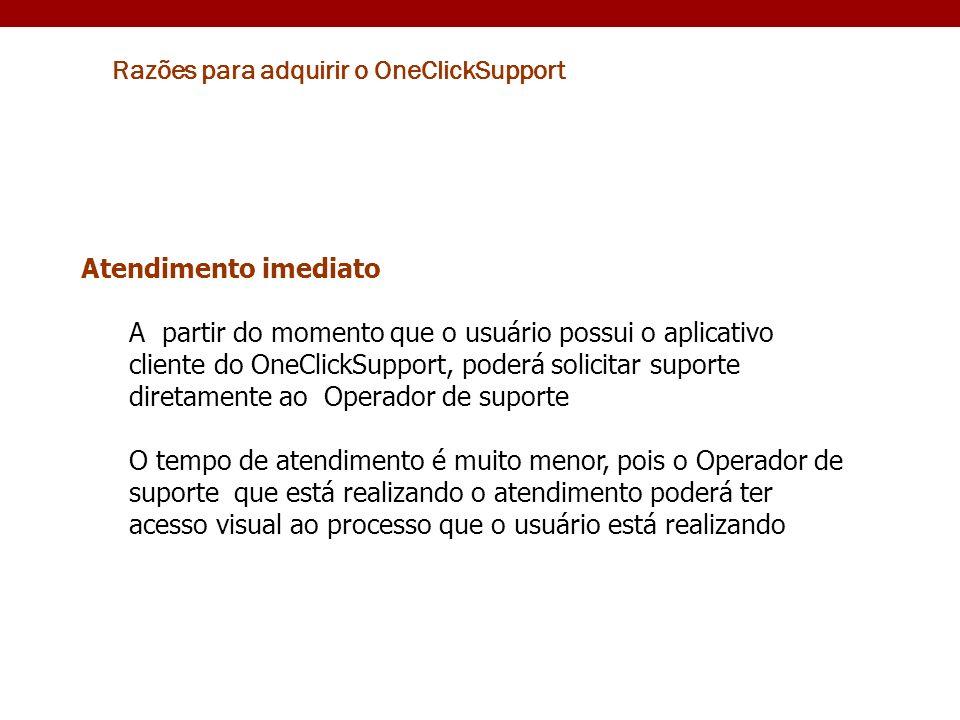 Razões para adquirir o OneClickSupport