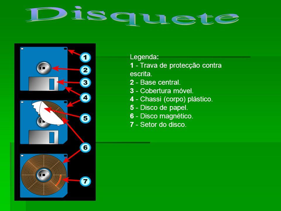 Disquete Legenda: 1 - Trava de protecção contra escrita.