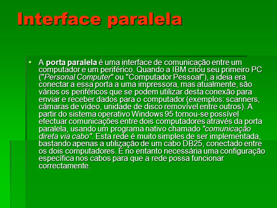 Interface paralela