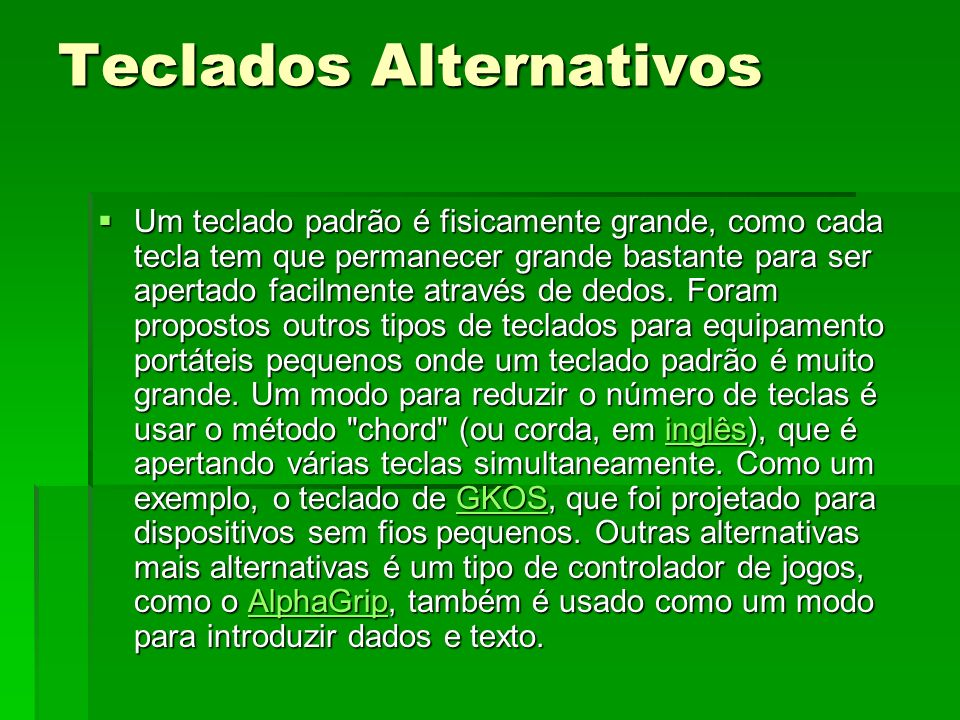 Teclados Alternativos