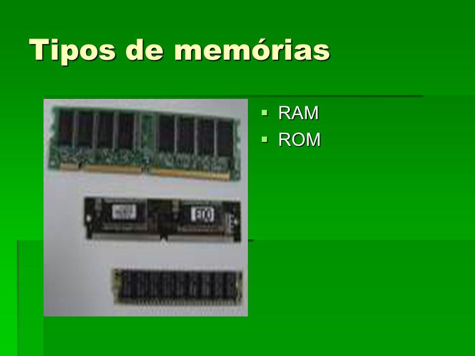 Tipos de memórias RAM ROM