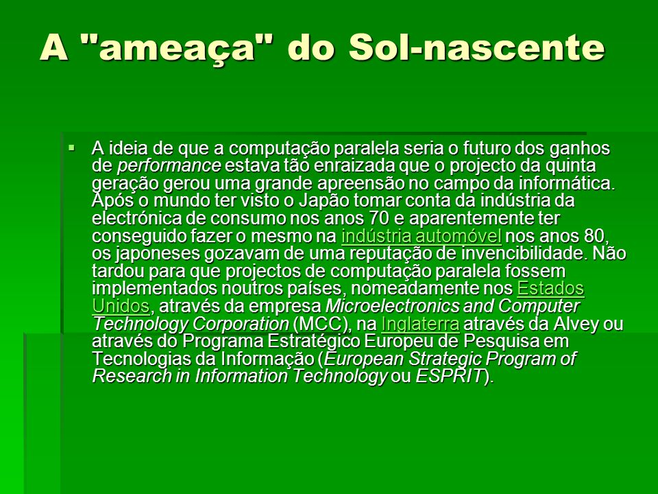 A ameaça do Sol-nascente