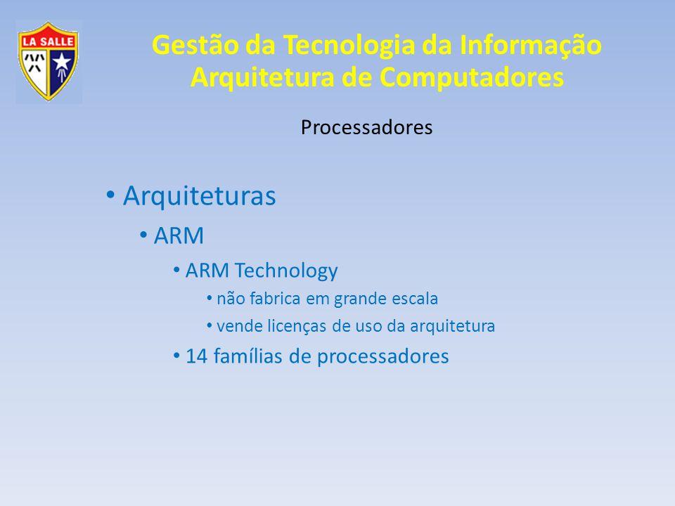 Arquiteturas ARM Processadores ARM Technology