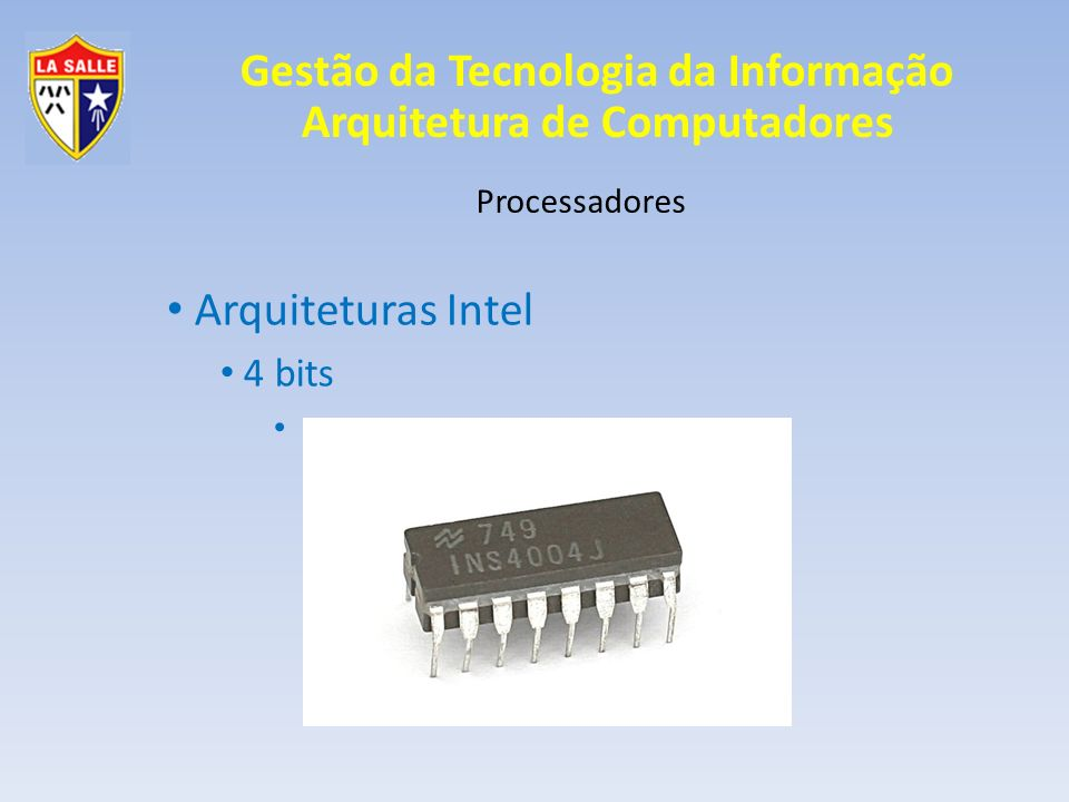 Arquiteturas Intel 4 bits