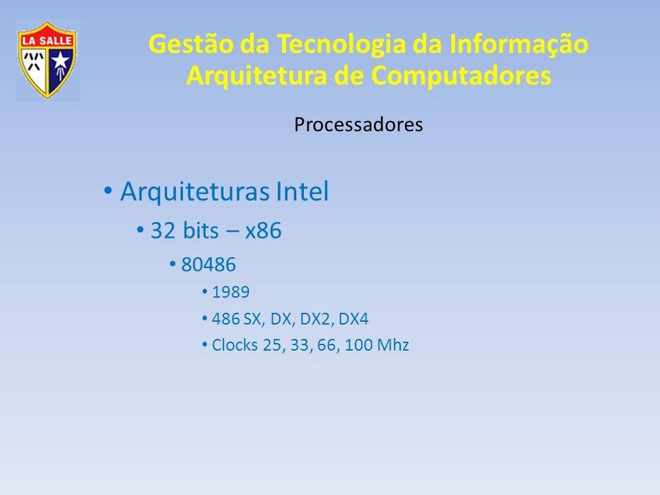 Arquiteturas Intel 32 bits – x86 Processadores 80486 1989