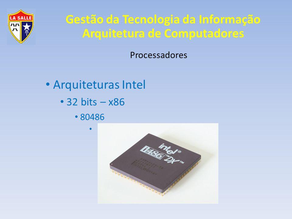 Arquiteturas Intel 32 bits – x86 80486