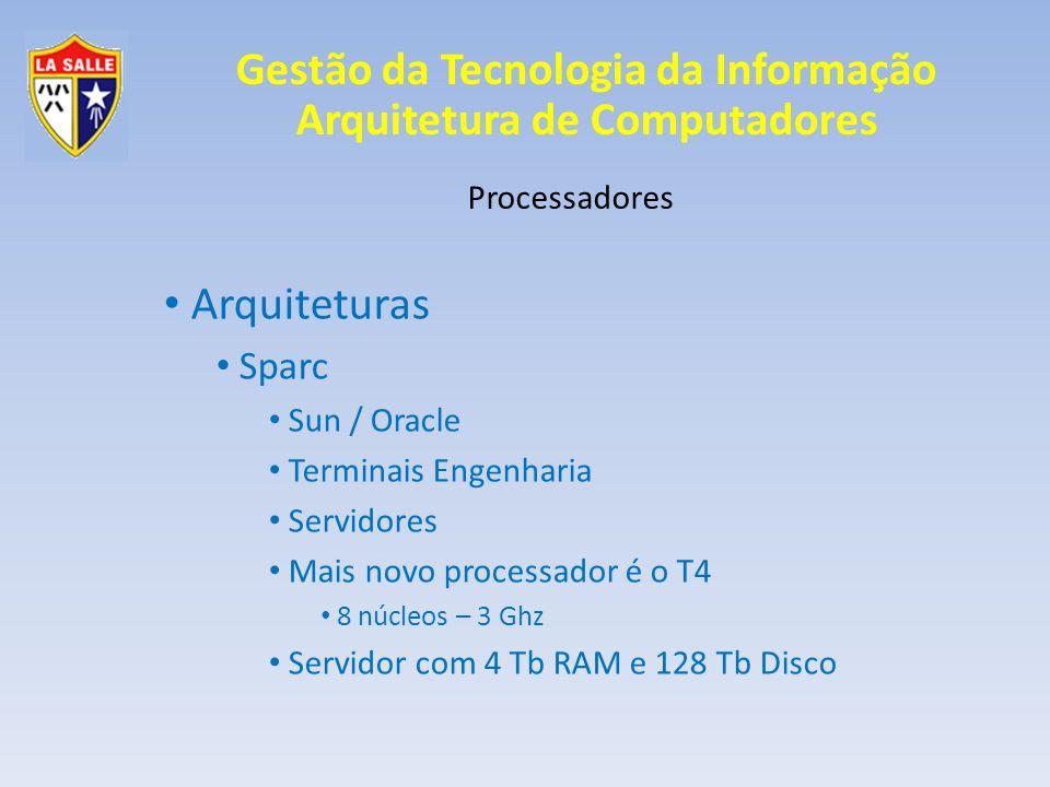 Arquiteturas Sparc Processadores Sun / Oracle Terminais Engenharia