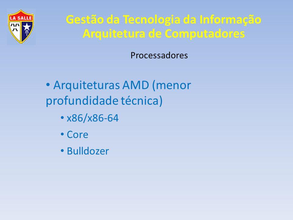 Arquiteturas AMD (menor profundidade técnica)