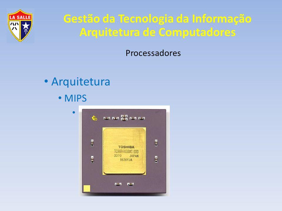 Arquitetura MIPS Processadores