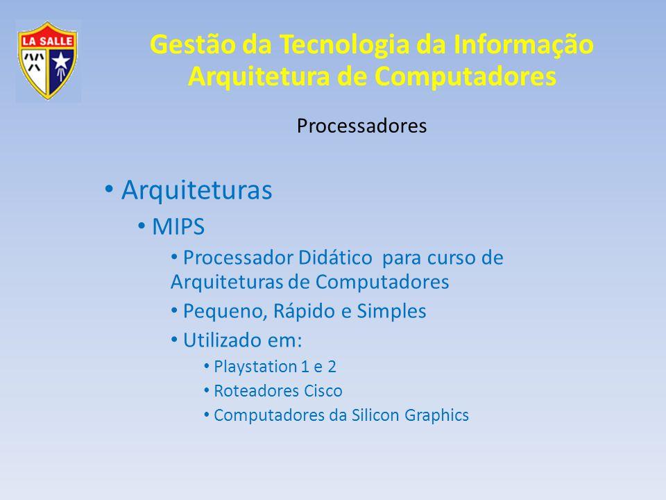 Arquiteturas MIPS Processadores