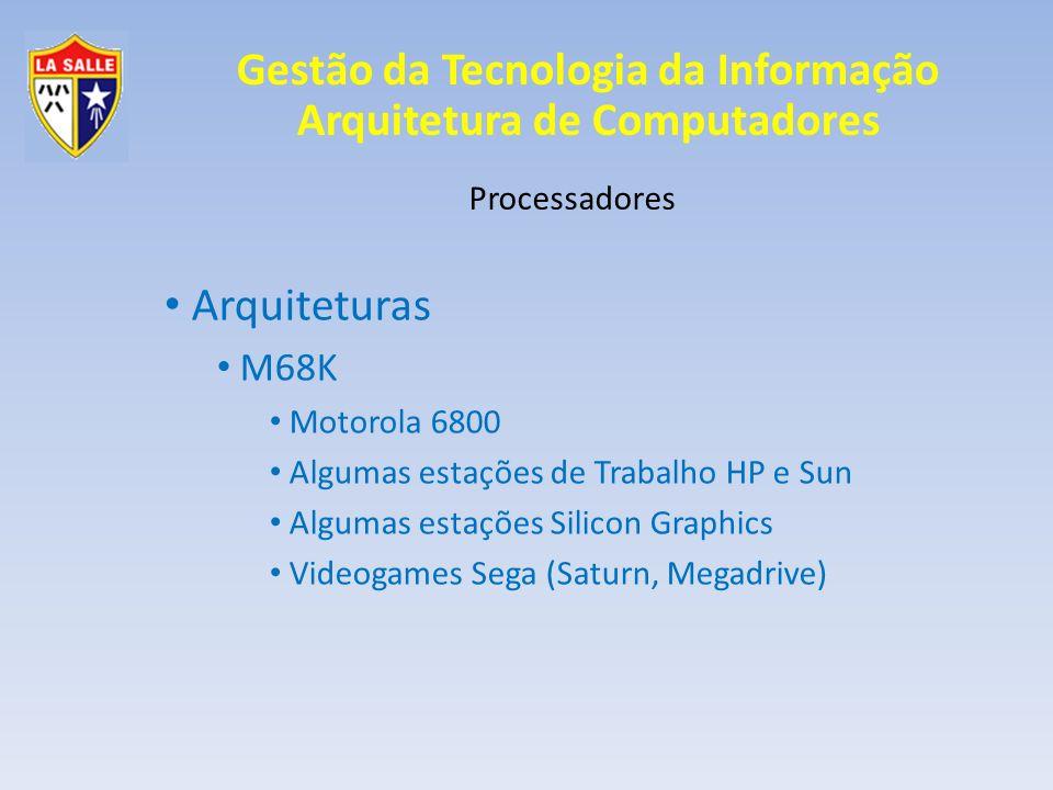 Arquiteturas M68K Processadores Motorola 6800