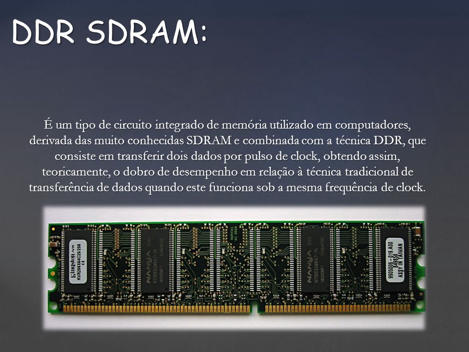 DDR SDRAM: