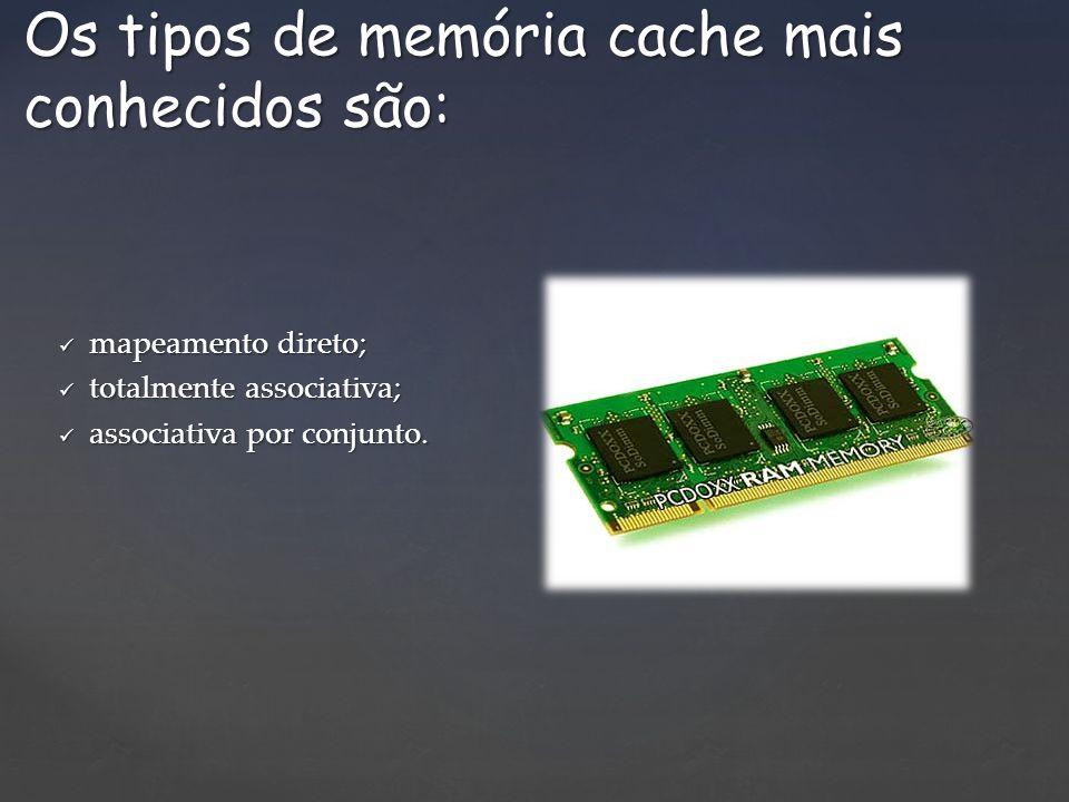 Os tipos de memória cache mais conhecidos são: