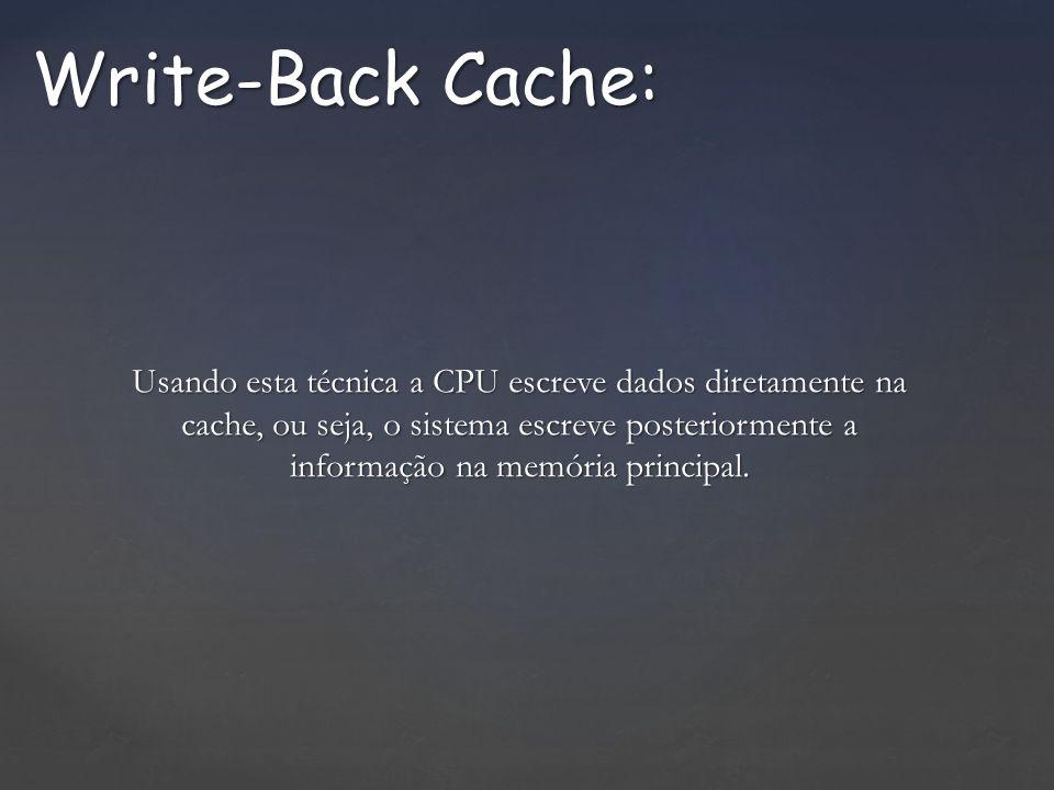 Write-Back Cache: