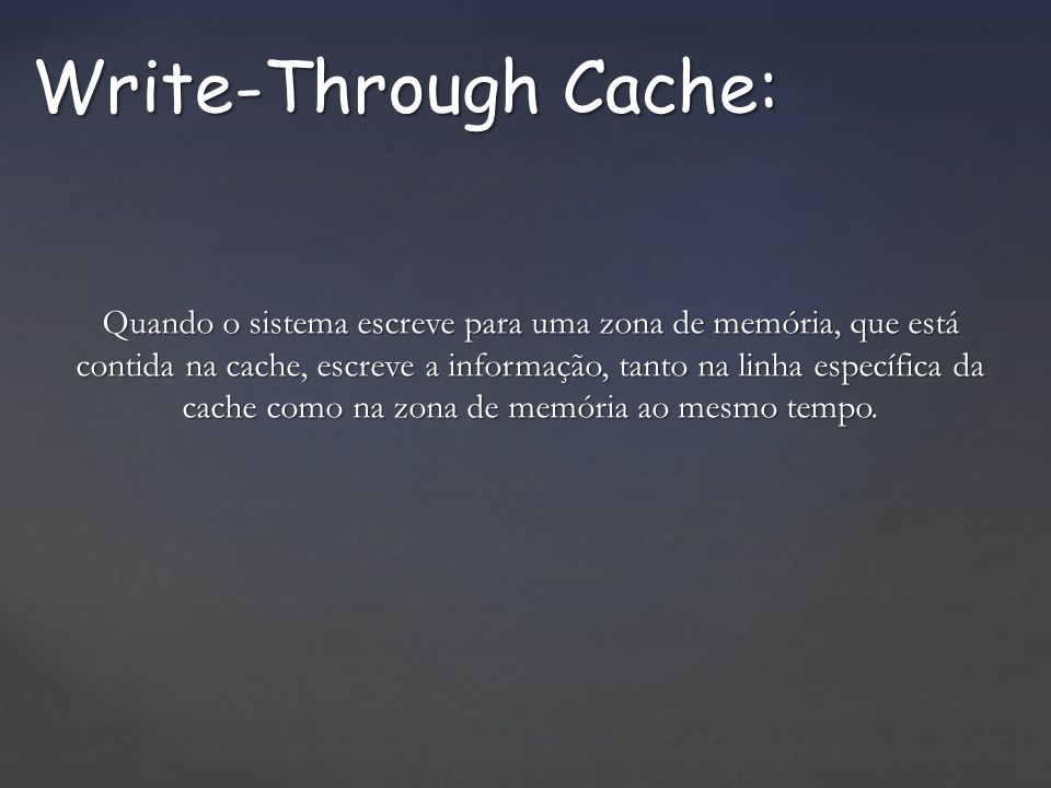 Write-Through Cache: