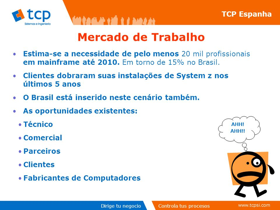 Mercado de Trabalho TCP Espanha
