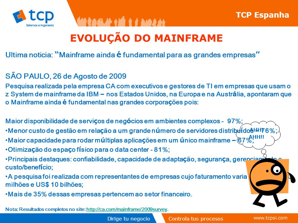 EVOLUÇÃO DO MAINFRAME TCP Espanha