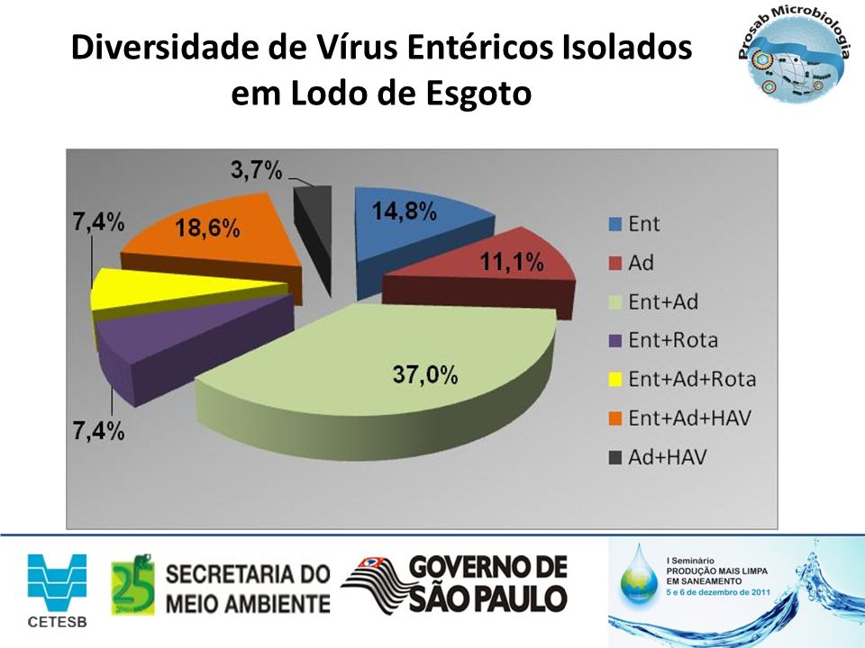 Diversidade de Vírus Entéricos Isolados em Lodo de Esgoto