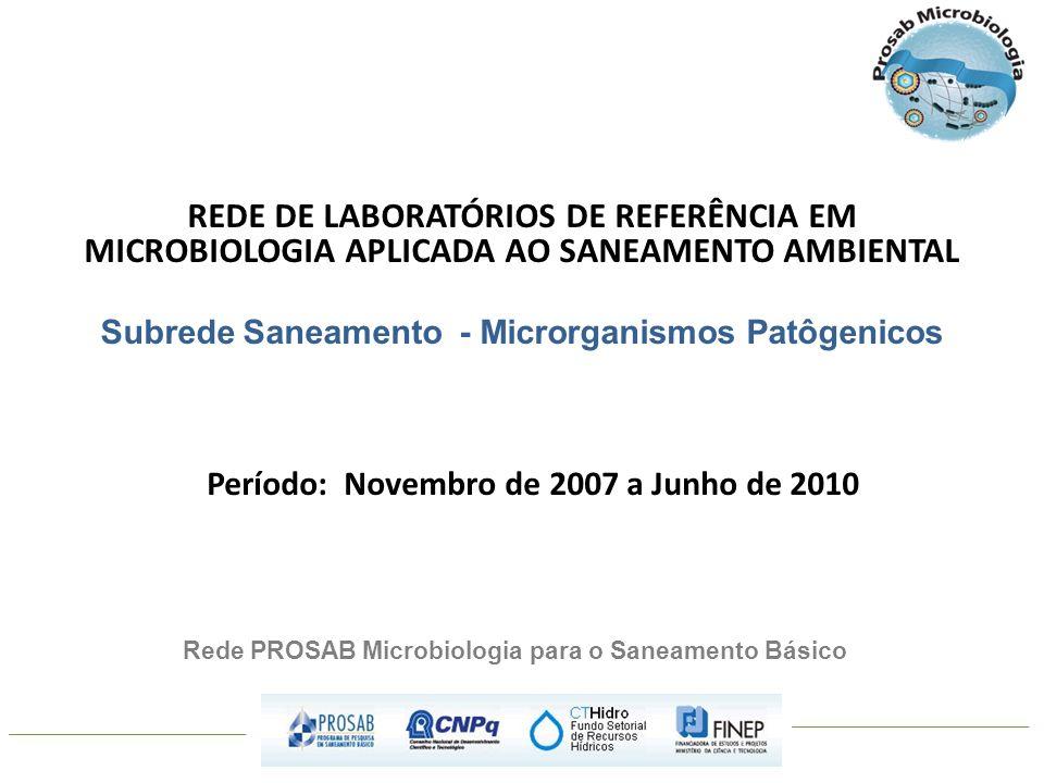 REDE DE LABORATÓRIOS DE REFERÊNCIA EM MICROBIOLOGIA APLICADA AO SANEAMENTO AMBIENTAL