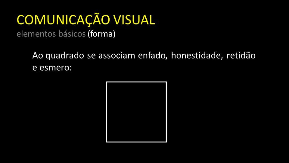 COMUNICAÇÃO VISUAL elementos básicos (forma)