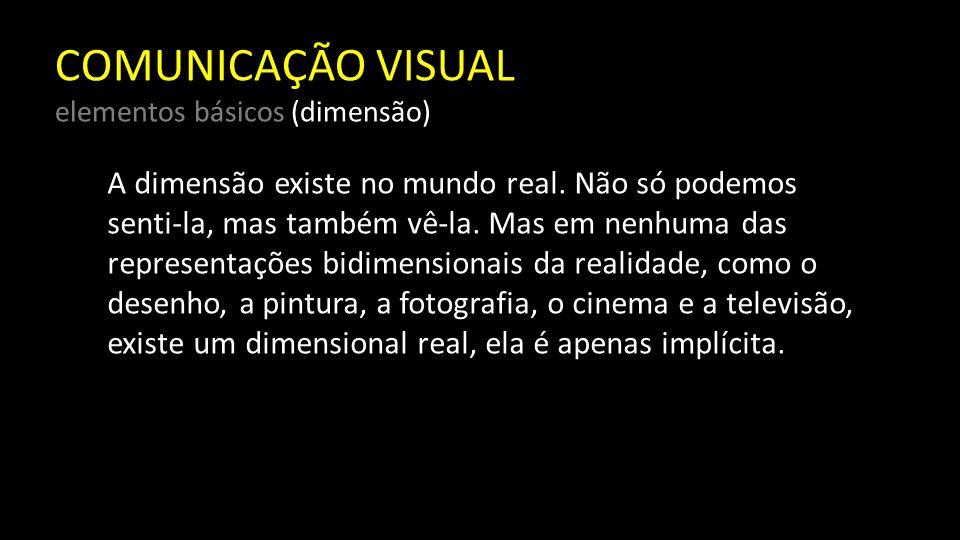 COMUNICAÇÃO VISUAL elementos básicos (dimensão)